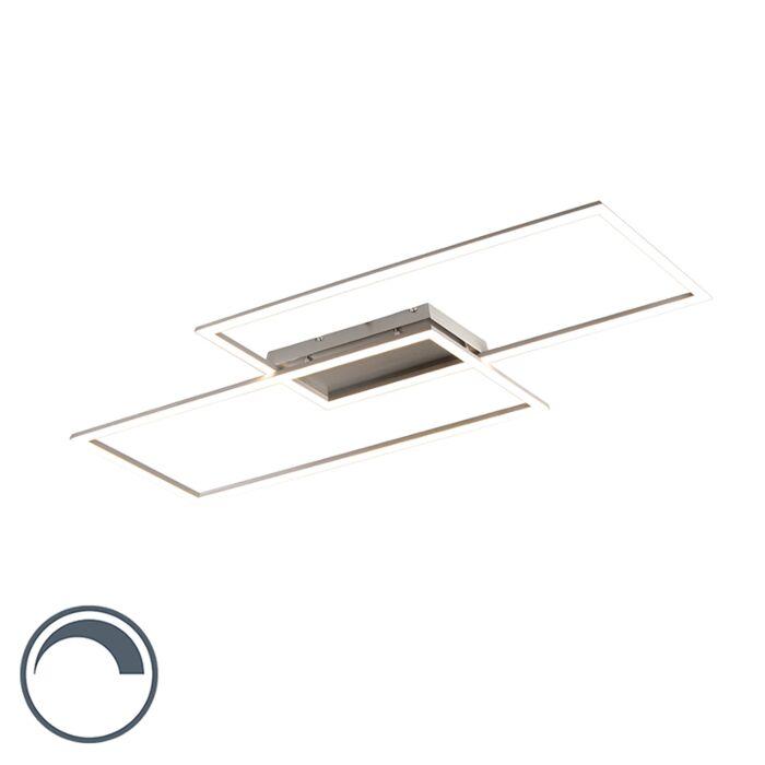Plafonnier-moderne-en-acier-15W-avec-LED-et-dimmer---Place-2
