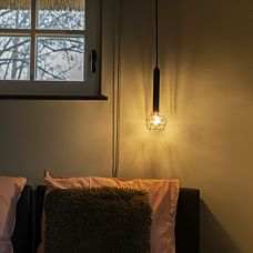Lampe-suspendue-noir-avec-cuivre---Mesh